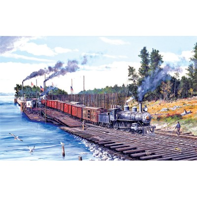 Delaying The Iron Horse 550 Piece Jigsaw Puzzle by SunsOut