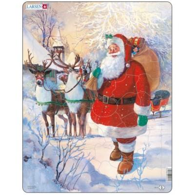 frame puzzle santa claus larsen jul8 50 pieces jigsaw puzzles
