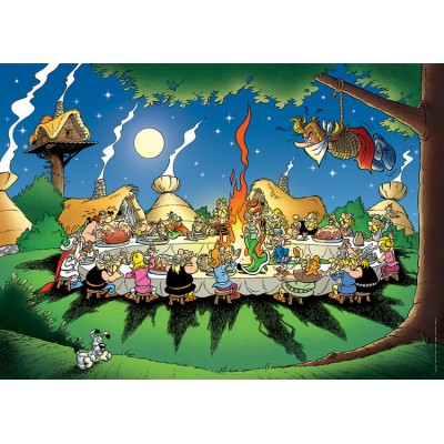 Jigsaw puzzle 1500 pieces asterix and obelix the banquet nathan 87737 jigsaw puzzle 1500 pieces asterix and obelix the banquet thecheapjerseys Images
