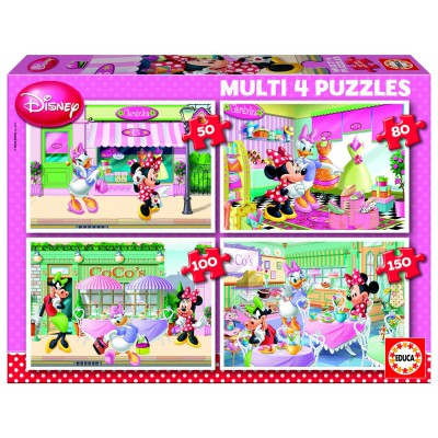 jigsaw puzzle from 50 to 150 pieces 4 puzzles minnie and her