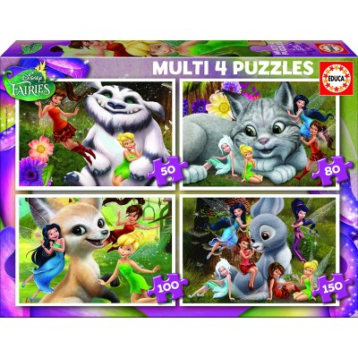 4 jigsaw puzzles disney fairies educa 16350 50 pieces jigsaw