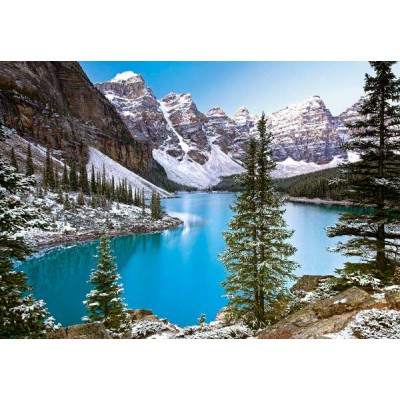 puzzle canada mountain lake castorland 102372 1000 pieces jigsaw puzzles mountains jigsaw. Black Bedroom Furniture Sets. Home Design Ideas