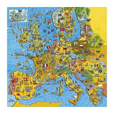 Jigsaw Puzzle - 200 Pieces - Square - Europe Map Gibsons-G1010 200 ...