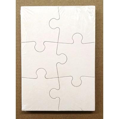 Puzzle PuzzelMan Blanc 002 6 Pieces Jigsaw Puzzles
