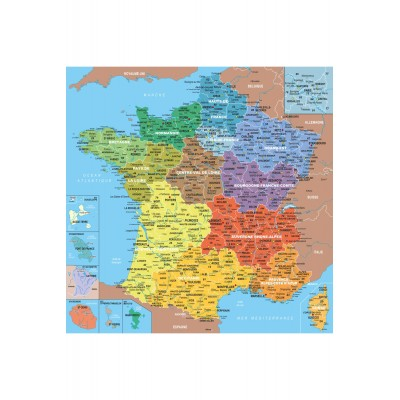 Jigsaw puzzle 24 pieces wooden art geography map of france jigsaw puzzle 24 pieces wooden art geography map of france puzzle michele wilson w80 24 24 pieces jigsaw puzzles world maps and mappemonde gumiabroncs Gallery