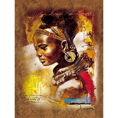 Jigsaw Puzzle 1000 Pieces Young African Woman
