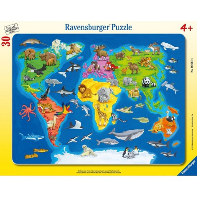 jigsaw puzzle 30 pieces frame puzzle animals of the world