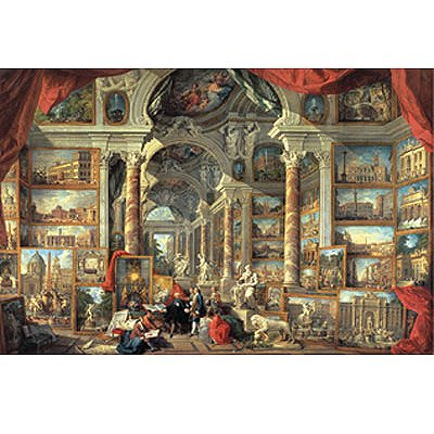 jigsaw puzzle 5000 pieces panini views of ancient. Black Bedroom Furniture Sets. Home Design Ideas
