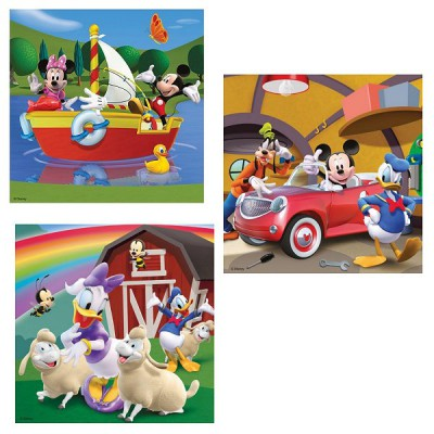 ravensburger 09247 jigsaw puzzles 49 pieces each 3 in 1 everybody loves