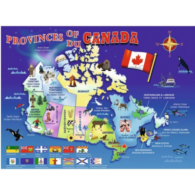 Map Of Canada Puzzle.Map Of Canada