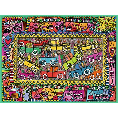 puzzle ravensburger 16356 james rizzi we are on our way to your party