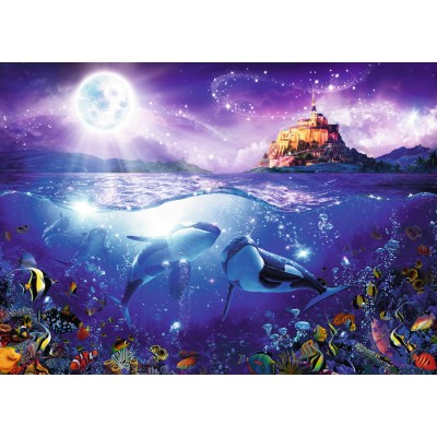 puzzle whales in the moonlight ravensburger 19791 1000 pieces jigsaw