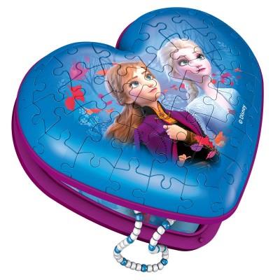 NOUVEAU RAVENSBURGER 3D Puzzle Frozen II Heart Box 54 Piece Jigsaw Puzzle 8+