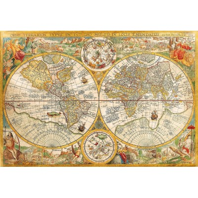Puzzle antique world map clementoni 32557 2000 pieces jigsaw puzzles puzzle antique world map clementoni 32557 2000 pieces jigsaw puzzles world maps and mappemonde jigsaw puzzle gumiabroncs