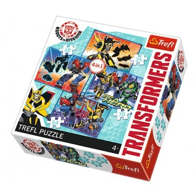 4 Puzzles Transformers Trefl 34287 35 Pieces Jigsaw