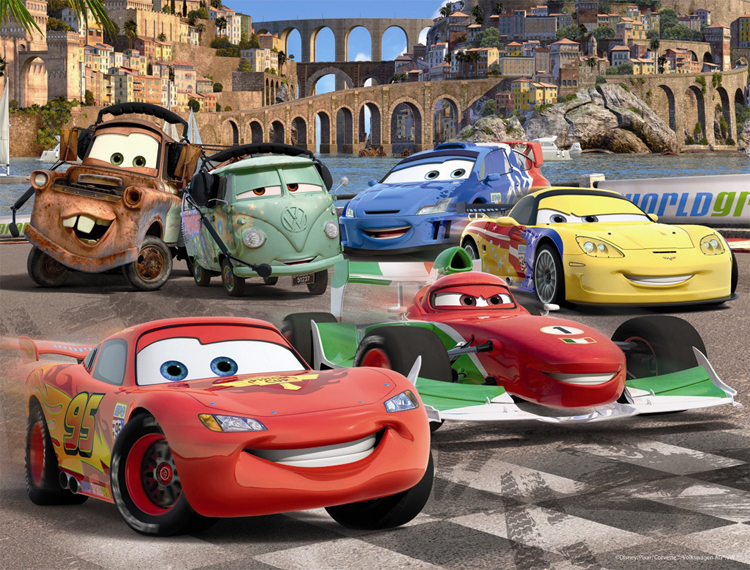 Frame Puzzle 30 Pieces Cars 2 Lightning Mcqueen S