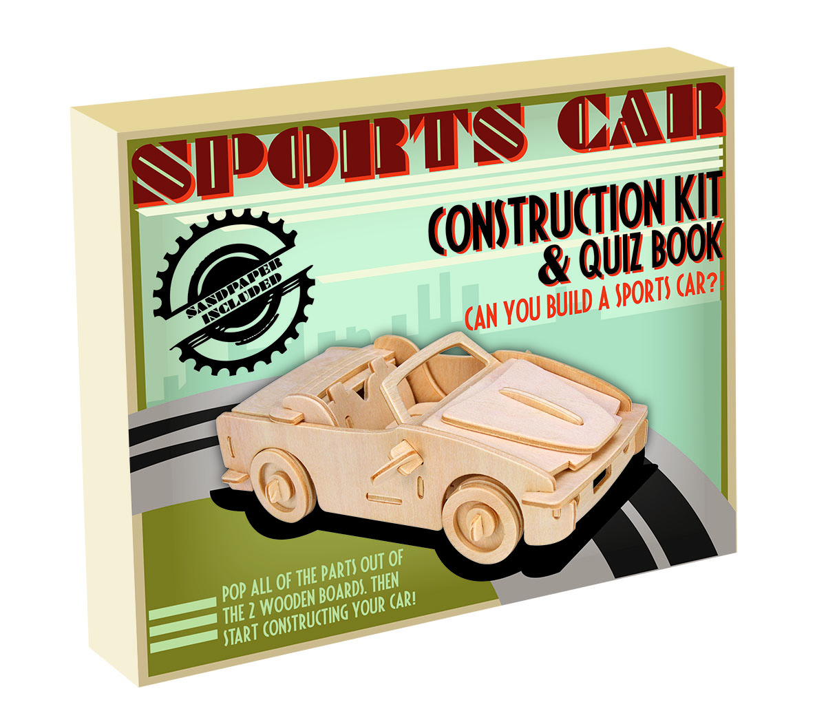 3d Wooden Jigsaw Puzzle Sports Car Construction Kit