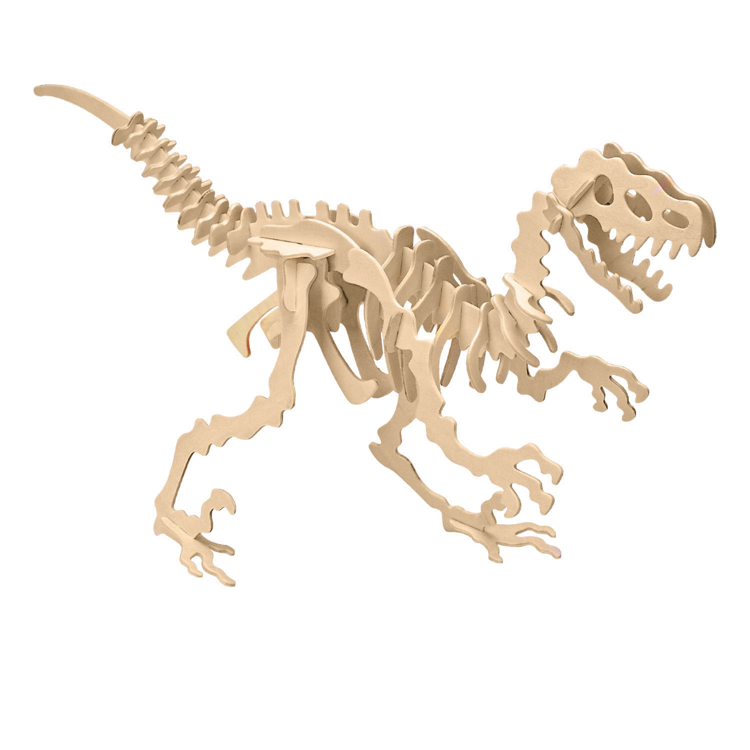 3d Wooden Jigsaw Puzzle Velociraptor Large