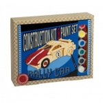 3D Wooden Jigsaw Puzzle with Paint Set - Rally Car
