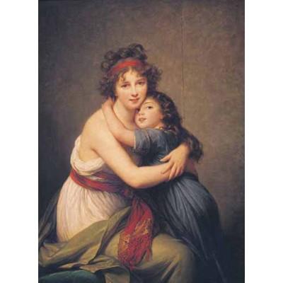 Puzzle Ricordi-50968 Elisabeth Vigee Le Brun - Le Brun et sa Fille