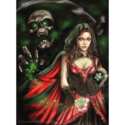 Puzzle Ricordi-51569 Scarlet Gothica - Absinthe