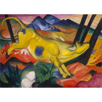 Puzzle Ricordi-51736 Franz Marc - The Yellow Cow
