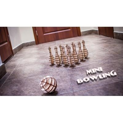Eco-Wood-Art-27 3D Wooden Jigsaw Puzzle - Mini Bowling