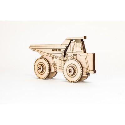 Eco-Wood-Art-33 3D Wooden Jigsaw Puzzle - Belaz 2D