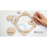 Eco-Wood-Art-36 Wooden Puzzle - Spirograph