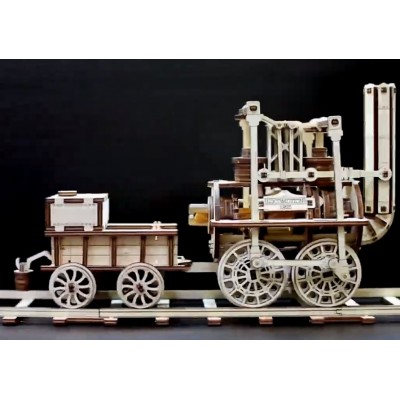 Eco-Wood-Art-42 3D Wooden Jigsaw Puzzle - Locomotion