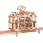 Ugears-12019 3D Wooden Jigsaw Puzzle - Tram on Rails
