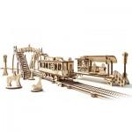 Ugears-12057 3D Wooden Jigsaw Puzzle - Tram Line