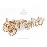 Ugears-12080 3D Wooden Jigsaw Puzzle - Royal Сarriage
