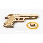 3D Wooden Jigsaw Puzzle - Wolf-01 Handgun