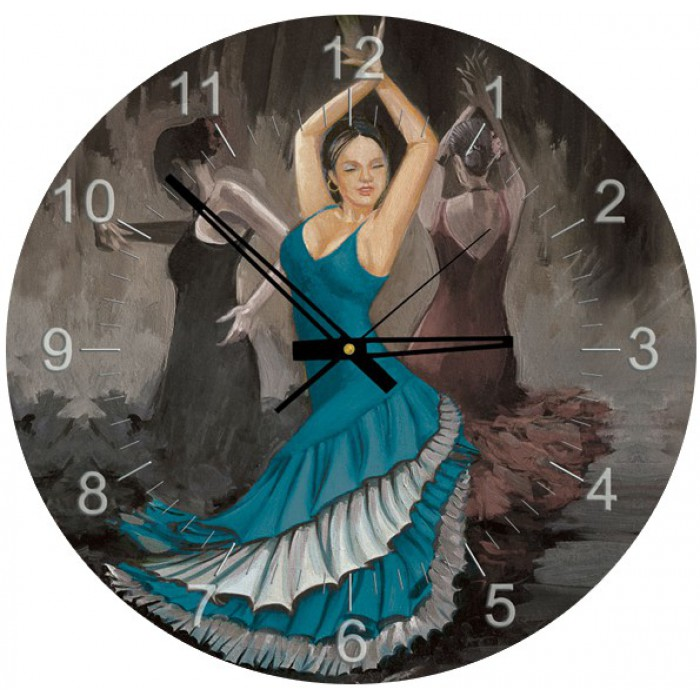 Jigsaw Puzzle Clock - Flamenco