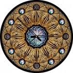 Art-Puzzle-4148 Puzzle Clock - Golden