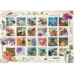 Puzzle  Art-Puzzle-4207 Collage of Stamps