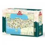 Puzzle  Art-Puzzle-4288 Karte der Türkei