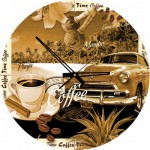 Art-Puzzle-4289 Puzzle Clock - Coffee