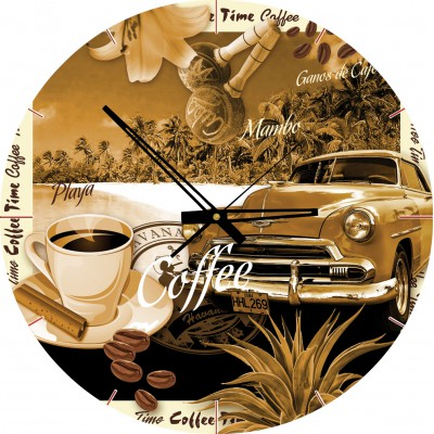 Art-Puzzle-4289 Puzzle Clock - Coffee