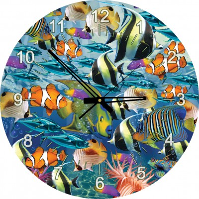 Art-Puzzle-4292 Jigsaw Puzzle Clock - Tropical Fish