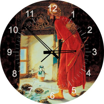 Art-Puzzle-4295 Clock Jigsaw Puzzle - Osman Hamdi Bey: The Turtle Trainer