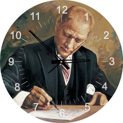 Art-Puzzle-4298 Jigsaw Puzzle Clock - Ghazi Mustafa Kemal Atatürk