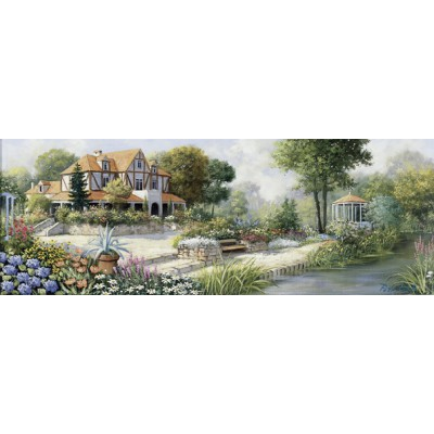 Puzzle Art-Puzzle-4333 Peter Motz: English Cottage