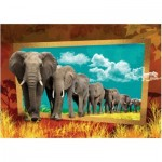 Puzzle  Art-Puzzle-4373 Elephants