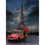 Puzzle  Art-Puzzle-4407 Eiffel, Rain and Love
