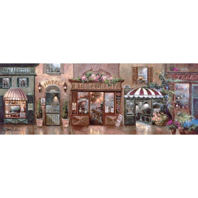 Puzzle Art-Puzzle-4420 James Lee : Cafe Walk I