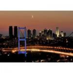 Art-Puzzle-4436 Neon Jigsaw Puzzle - Bosphorus Bridge