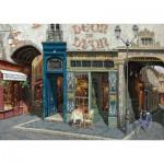 Art-Puzzle-4438 Wooden Jigsaw Puzzle - Viktor Shvaiko: Cafe Leon