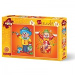 Art-Puzzle-4487 2 Puzzles - The Clowns